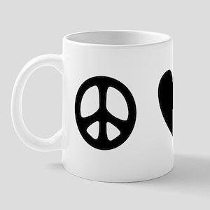 Peace Love Dogs [st b/w] Mug